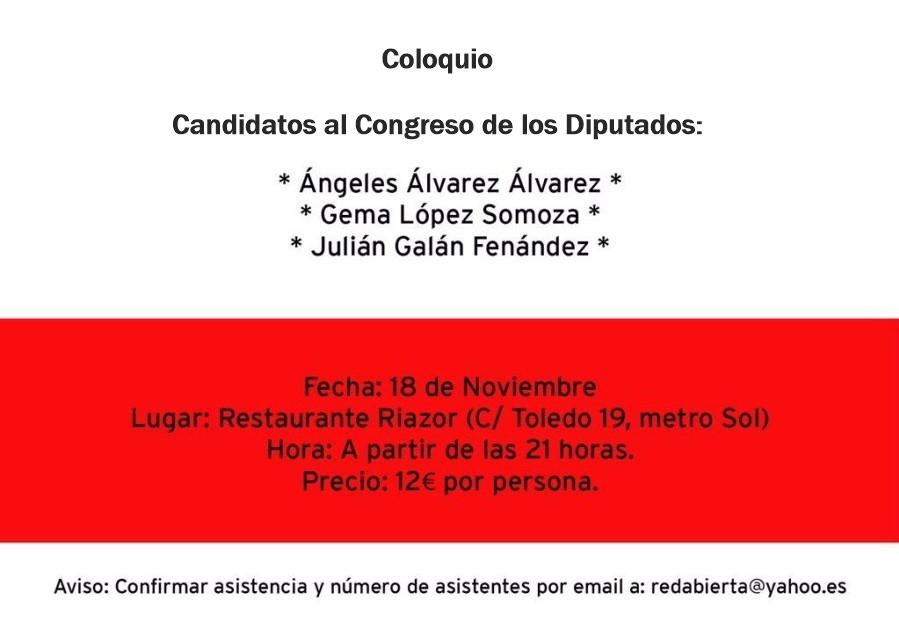 Julián Galán Fernández Candidato Congreso de los Diputaods