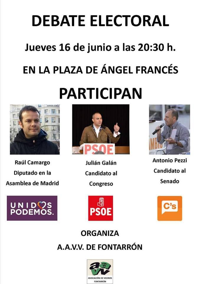 Julián Galán Debate Electoral 26J