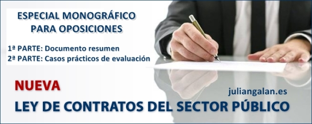 ESPECIAL NUEVA LEY DE CONTRATOS DEL SECTOR PÚBLICO JULIANGALAN