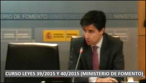 FOTO Curso sobre Leyes 39 y 40 de 2015 (MINISTERIO DE FOMENTO) 1
